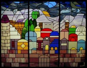 Jersusalem Stained Glass Window